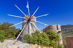 Ancient windmills of Lasithi Plateau Royalty Free Stock Photography