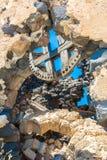 Ancient windmills of Santorini island,Crete,Greece Stock Photography