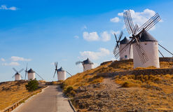 Ancient windmills Stock Photos