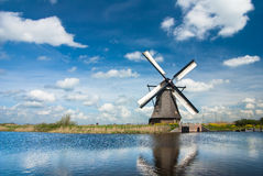 Ancient windmils near Kinderdijk, Netherlands Stock Images