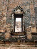 Ancient Window. Photo of ancient window taken in Ayutthaya in Thailand Royalty Free Stock Image
