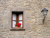 Ancient window. In Rupit, Barcelona, Spain Royalty Free Stock Photo