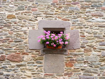 Ancient window. In Rupit, Barcelona, Spain Stock Images