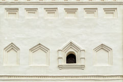 Ancient window in the belfry of Saint Sophia's cathedral in Veliky Novgorod, Russia Stock Photos