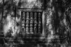 Ancient Window of Beng Mealea Royalty Free Stock Image