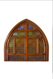 Ancient  window with decorative grid Royalty Free Stock Images