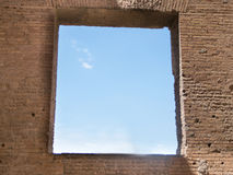 Ancient Window of the House of Augustus on the Palatine Hill in Rome Stock Photography
