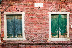 Ancient window in a house in Venice Royalty Free Stock Image