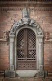 Ancient window in Kathmandu Stock Photos
