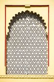 Ancient window with oriental ornament in Udaiur, Rajasthan, Indi Stock Photography