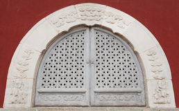 The ancient windows. Filmed in Beijing City, China National Sports Center Stock Photography