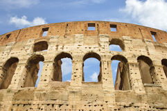 Ancient windows of the Colosseum, Rome, Italy Stock Photo