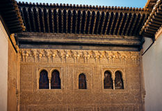 Ancient windows of Comares Palace - Royalty Free Stock Photo