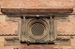 Ancient Windows in Hanuman Dhoka Durbar Stock Photos