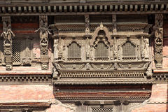 Ancient Windows, Kathmandu Durbar Square, Nepal Stock Photo