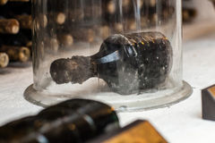 Ancient wine bottle Royalty Free Stock Photography