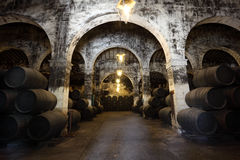 Ancient wine cellar Royalty Free Stock Photos