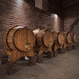 Ancient wine cellar Stock Photography