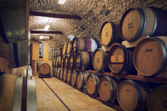 Ancient wine cellar Stock Photos