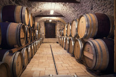 Ancient wine cellar Stock Images