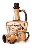 Ancient Wine Jug And Ceramic Mugs Royalty Free Stock Photos