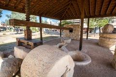 Ancient wine press next to Limassol castle, Cyprus Stock Photos