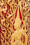 Ancient wood carving for deva statue Royalty Free Stock Photography
