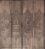 Ancient wood carvings Stock Image