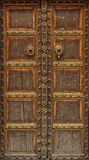 Ancient wood door Stock Images