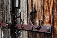 Ancient wood door Stock Photo