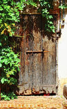 Ancient wood entrance door Royalty Free Stock Photography