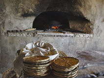 Ancient wood fired bakery. Bread bakery with a wood fired oven Royalty Free Stock Image