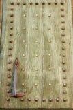 Ancient wood front door stock images