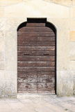 Ancient wood front door Royalty Free Stock Photo