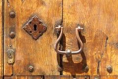Ancient wood front door Stock Photos