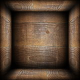 Ancient wood interior backdrop Stock Images