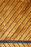 Ancient wood with metal plank Stock Photos