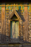 Ancient wood window temple Stock Photography
