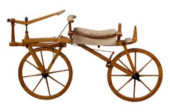 Ancient wooden bike Royalty Free Stock Photography