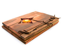 Ancient wooden book Royalty Free Stock Photo