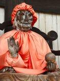 Ancient wooden Buddha statue Stock Photos