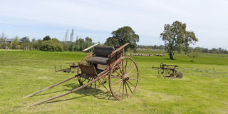 Ancient wooden carriage Royalty Free Stock Photography