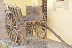 Ancient wooden cart Stock Image
