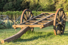 Ancient wooden cart in a park Royalty Free Stock Photography