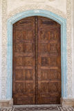 Ancient wooden carved door Royalty Free Stock Images
