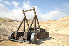 Ancient wooden catapult Royalty Free Stock Images