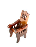 Ancient wooden chair. On white background Stock Photography