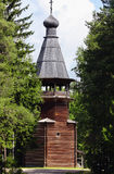 Ancient wooden church. Malye Karely, Russian Federation Royalty Free Stock Images