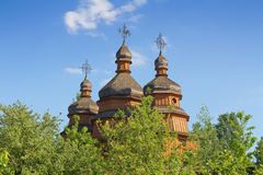 Ancient wooden church Stock Photography