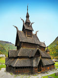 Ancient Wooden Church, Borgund, Norway Royalty Free Stock Photography